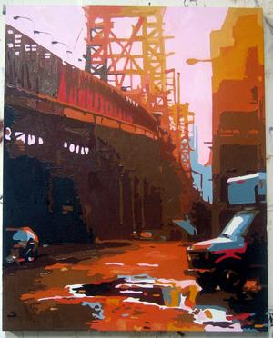 sunsetbridgepainting